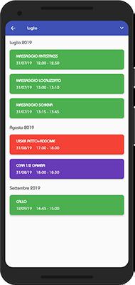 Appuntamenti futuri dall'app per centri estetici