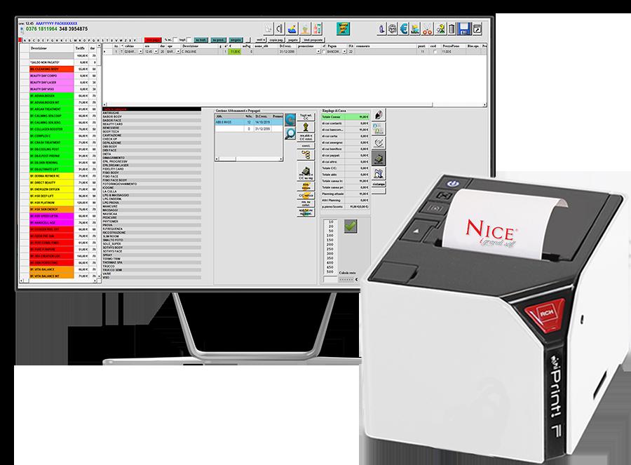 Cassa fiscale collegata al Software per Estetica